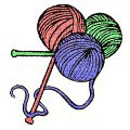 Three balls of yarn for knitting