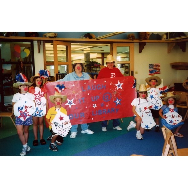 2003 - Louise & Bev - Summer Reading Program: Laugh it Up @ Your Library